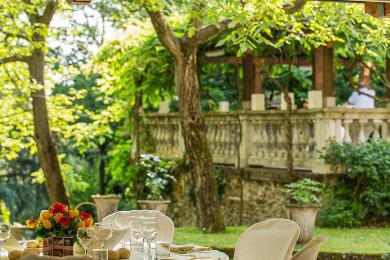 Pergolato della location Villa Teodolinda a Villa d\'Adda